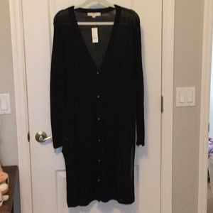 Lightweight Knit Duster Cardigan Loft NWT